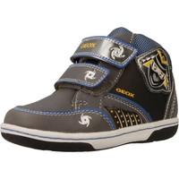 Sapatos Rapaz Sapatilhas de cano-alto Geox B FLICK BOY Cinza