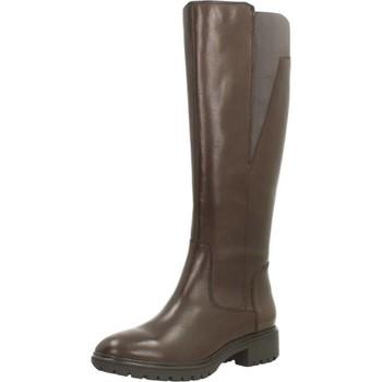 Sapatos Mulher Botas Geox D PEACEFUL Marron