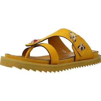 Sapatos Mulher Chinelos Elvio Zanon H0504P Amarelo