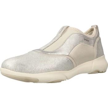 Sapatos Mulher Slip on Geox D NEBULA S Silver