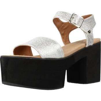 Sapatos Mulher Sandálias Different 64 8555 Silver