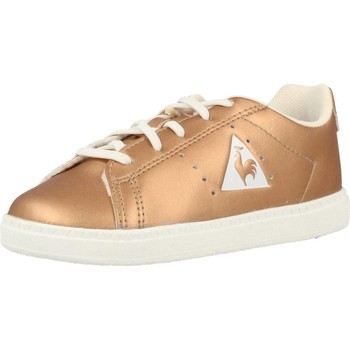 Sapatos Rapariga Sapatilhas Le Coq Sportif COURTONE INF METALLIC Ouro