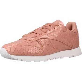 Sapatos Mulher Sapatilhas Reebok Sport CL LTHR CRACKLE Rosa