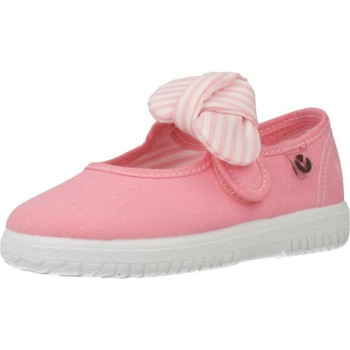 Sapatos Rapariga Sabrinas Victoria LONA VELCRO CON LAZO Rosa