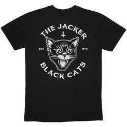 Textil Homem T-Shirt mangas curtas Jacker Black cats Preto