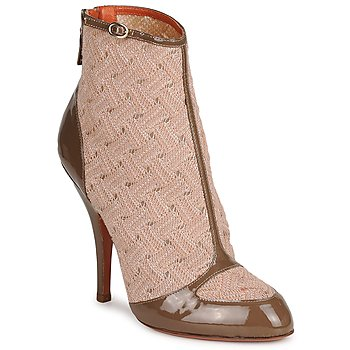 Sapatos Mulher Botins Missoni LISCIA Bege / Castanho