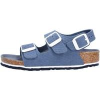 Sapatos Rapaz Chinelos Birkenstock - Milano blu 1012639 BLU