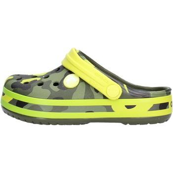 Sapatos Rapaz Tamancos Crocs - Crocband verde mimet 205532 VERDE