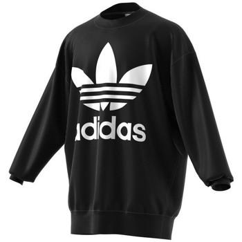 Textil Homem Sweats adidas Originals Tref Over Crew Noir