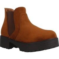 Sapatos Rapariga Botins Different 4216 Marron