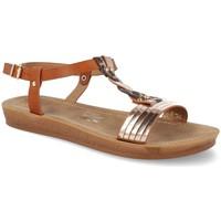 Sapatos Mulher Sandálias Ainy TS-7 Camel