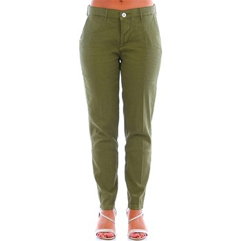 Textil Mulher Chinos Zero Construction SATELA LINO verde