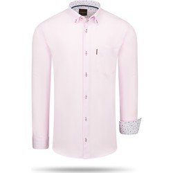 Textil Homem Camisas mangas comprida Cappuccino Italia Regular Fit Overhemd Pink Roze