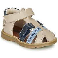 Sapatos Rapaz Sandálias GBB DIMMI Bege / Azul