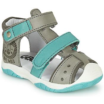 Sapatos Rapaz Sandálias GBB EUZAK Cinza / Azul