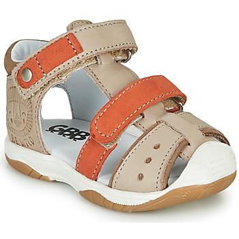 Sapatos Rapaz Sandálias GBB EUZAK Bege / Laranja