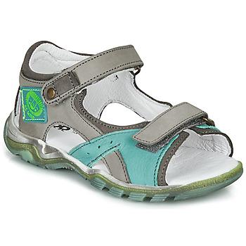 Sapatos Rapaz Sandálias GBB EROPE Cinza / Azul