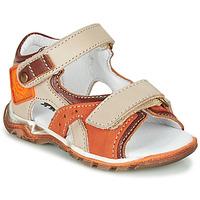 Sapatos Rapaz Sandálias GBB EROPE Bege / Laranja