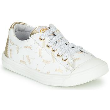 Sapatos Rapariga Sapatilhas GBB MATIA Branco / Ouro