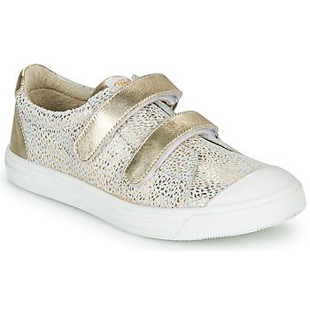 Sapatos Rapariga Sapatilhas GBB NOELLA Branco / Ouro