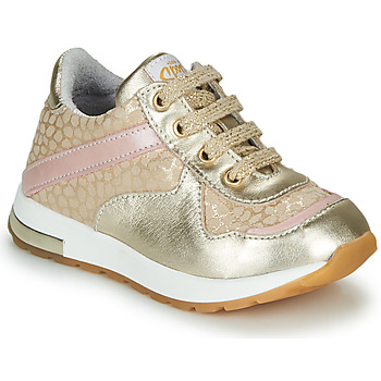 Sapatos Rapariga Sapatilhas GBB LELIA Ouro / Bege
