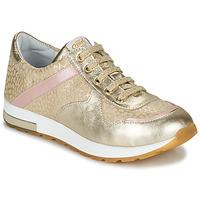 Sapatos Rapariga Sapatilhas GBB LELIA Bege / Ouro