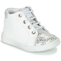 Sapatos Rapariga Sapatilhas de cano-alto GBB FAMIA Branco / Prata