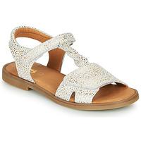 Sapatos Rapariga Sandálias GBB FARENA Branco / Ouro