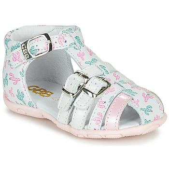 Sapatos Rapariga Sandálias GBB RIVIERA Branco / Rosa