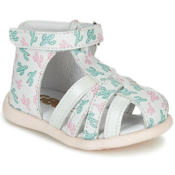 Sapatos Rapariga Sandálias GBB AGRIPINE Branco / Verde / Rosa