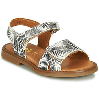 Sapatos Rapariga Sandálias GBB CAVOLA Branco / Preto