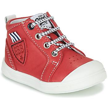 Sapatos Rapaz Sapatilhas de cano-alto GBB GREGOR Vermelho
