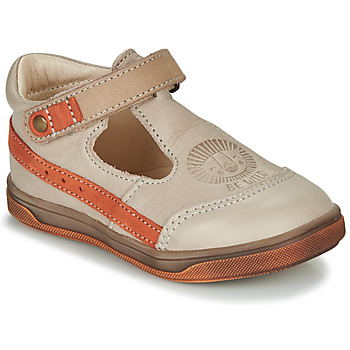 Sapatos Rapaz Sandálias GBB ANGOR Bege / Laranja