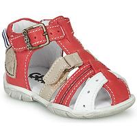 Sapatos Rapaz Sandálias GBB BYZANTE Vermelho