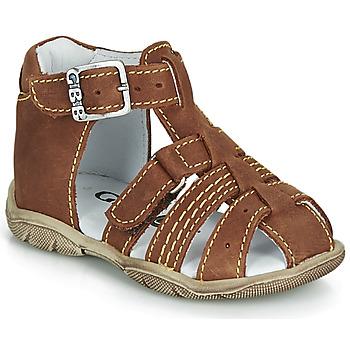Sapatos Rapaz Sandálias GBB ARIGO Castanho