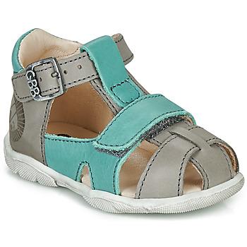 Sapatos Rapaz Sandálias GBB SEROLO Cinza / Azul