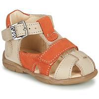 Sapatos Rapaz Sandálias GBB SEROLO Bege / Laranja