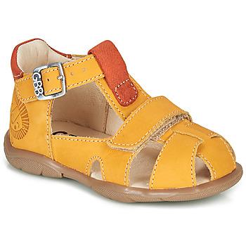 Sapatos Rapaz Sandálias GBB SEROLO Amarelo / Laranja