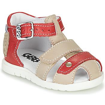 Sapatos Rapaz Sandálias GBB BASILA Vermelho / Bege