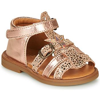 Sapatos Rapariga Sandálias GBB CARETTE Rosa / Ouro