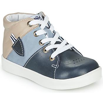 Sapatos Rapaz Sapatilhas de cano-alto GBB AMOS Azul / Cinza