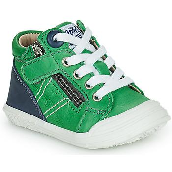 Sapatos Rapaz Sapatilhas de cano-alto GBB ANATOLE Verde