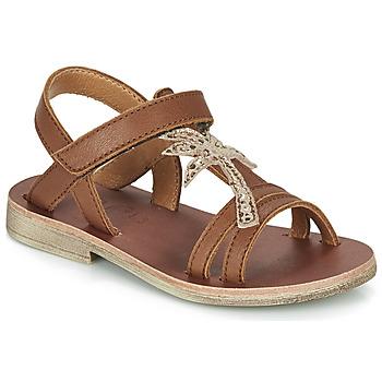 Sapatos Rapariga Sandálias GBB SAPELA Castanho