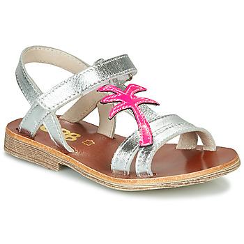 Sapatos Rapariga Sandálias GBB SAPELA Prata / Rosa