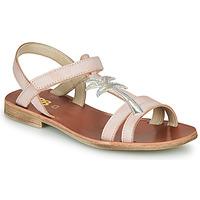 Sapatos Rapariga Sandálias GBB SAPELA Rosa / Prata