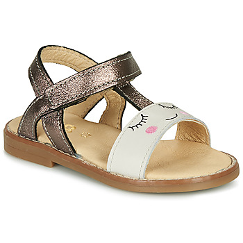 Sapatos Rapariga Sandálias GBB NAZETTE Bege / Bronze