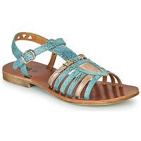 Sapatos Rapariga Sandálias GBB FANNI Azul / Ouro