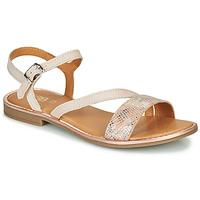 Sapatos Rapariga Sandálias GBB FANA Bege / Rosa