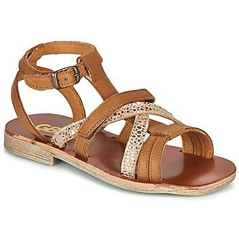 Sapatos Rapariga Sandálias GBB JULIA Castanho