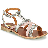 Sapatos Rapariga Sandálias GBB JULIA Branco / Rosa